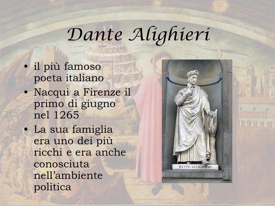 Dante Alighieri il più famoso poeta italiano
