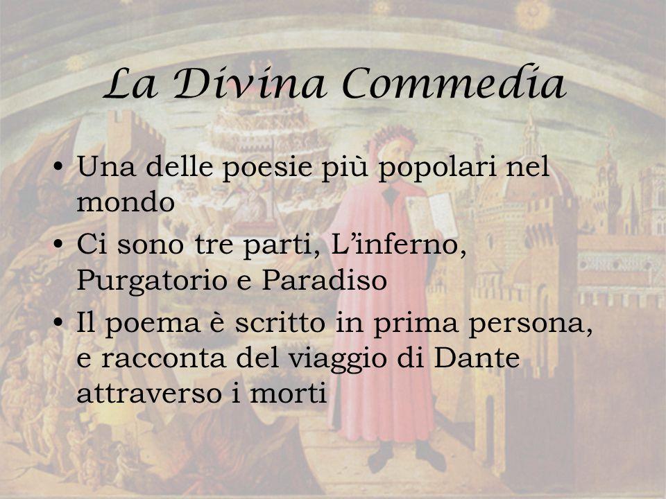 La Divina Commedia Una delle poesie più popolari nel mondo