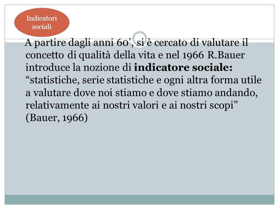 Indicatori sociali