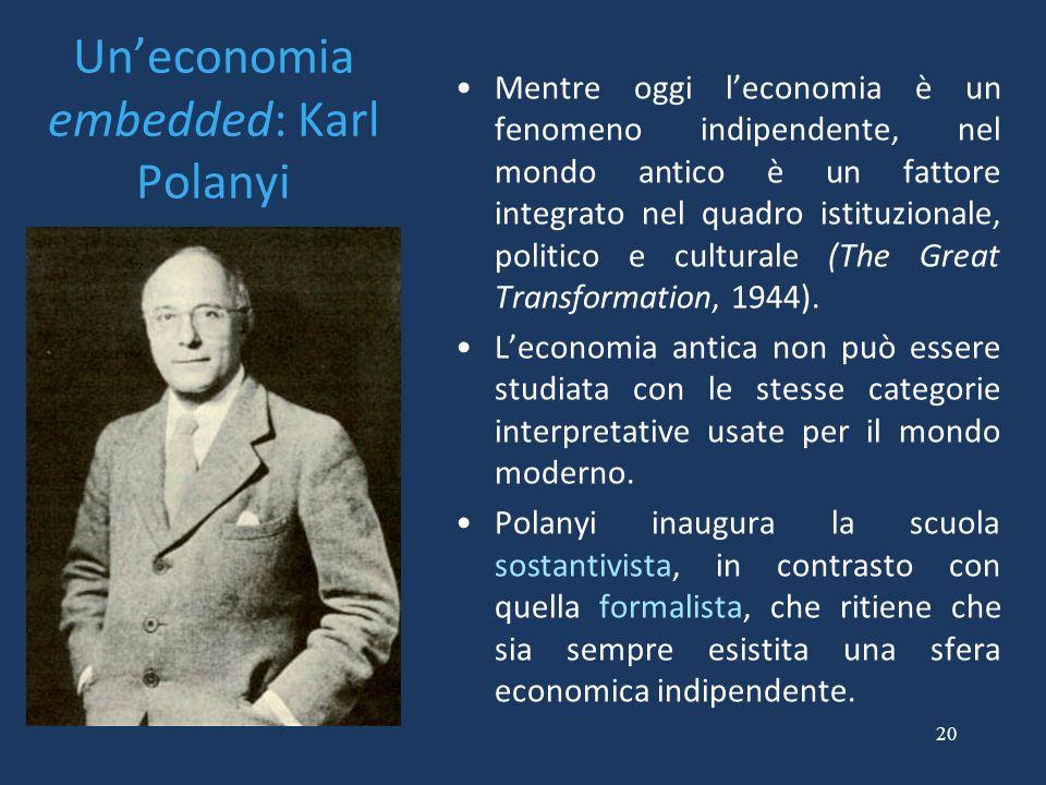 Un'economia embedded: Karl Polanyi