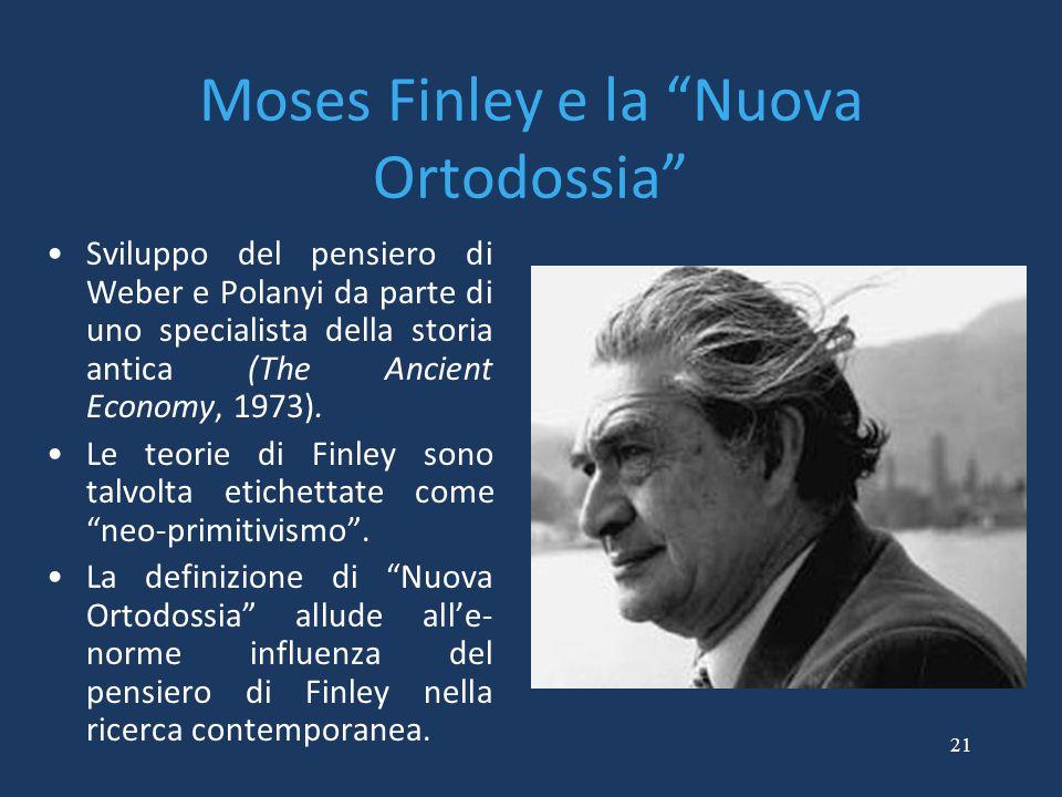 Moses Finley e la Nuova Ortodossia