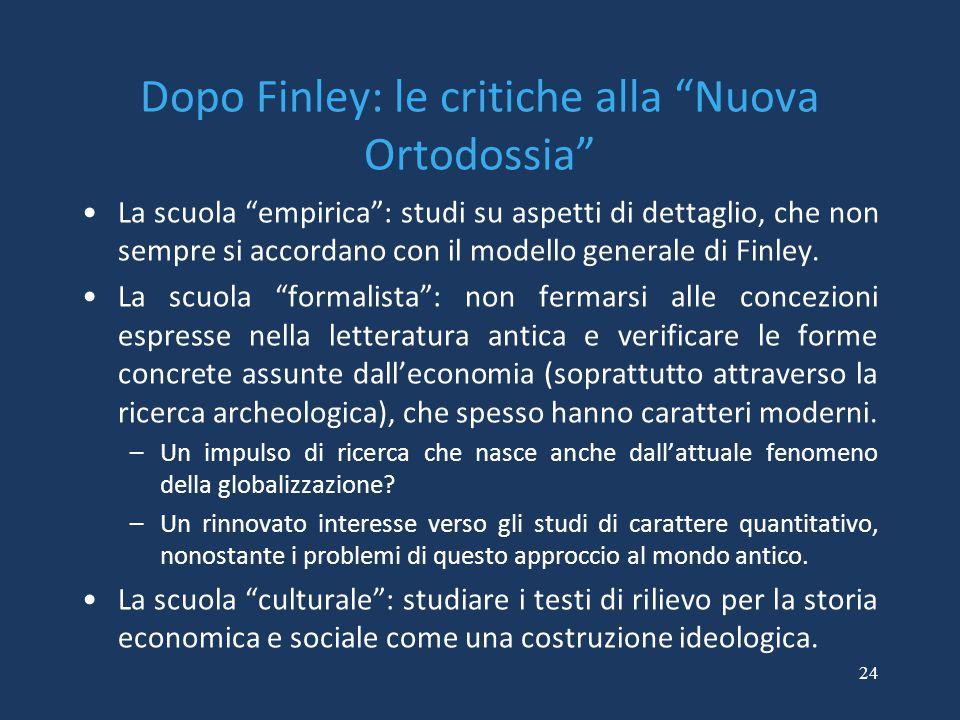 Dopo Finley: le critiche alla Nuova Ortodossia
