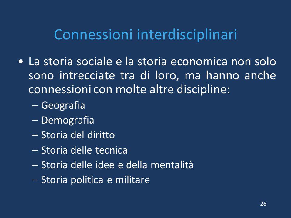 Connessioni interdisciplinari