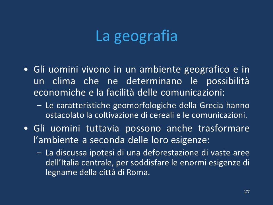 La geografia