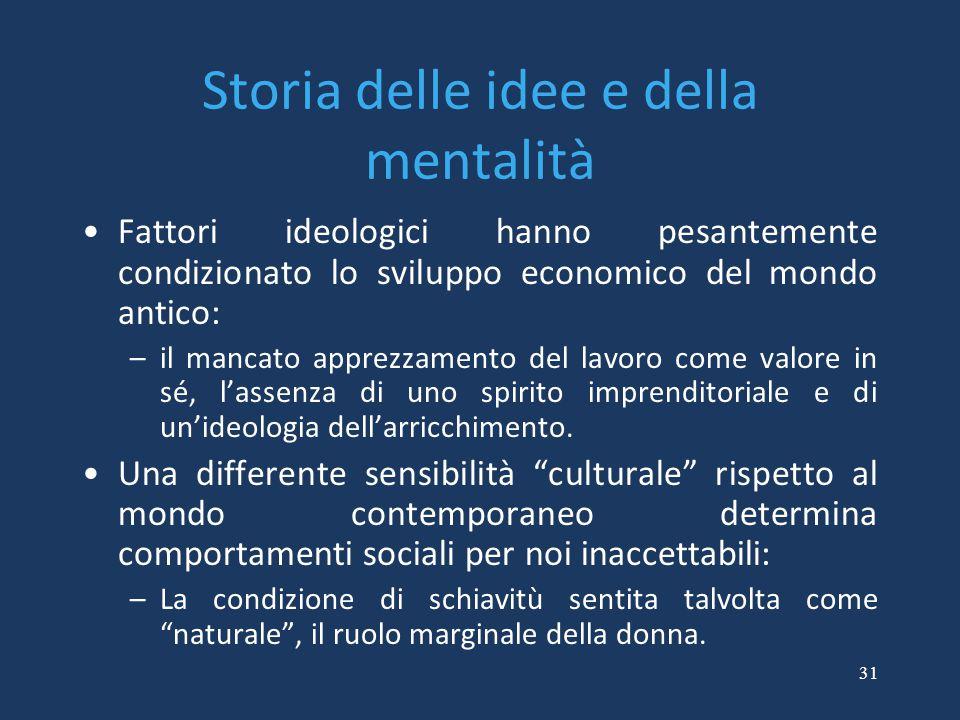 Storia delle idee e della mentalità
