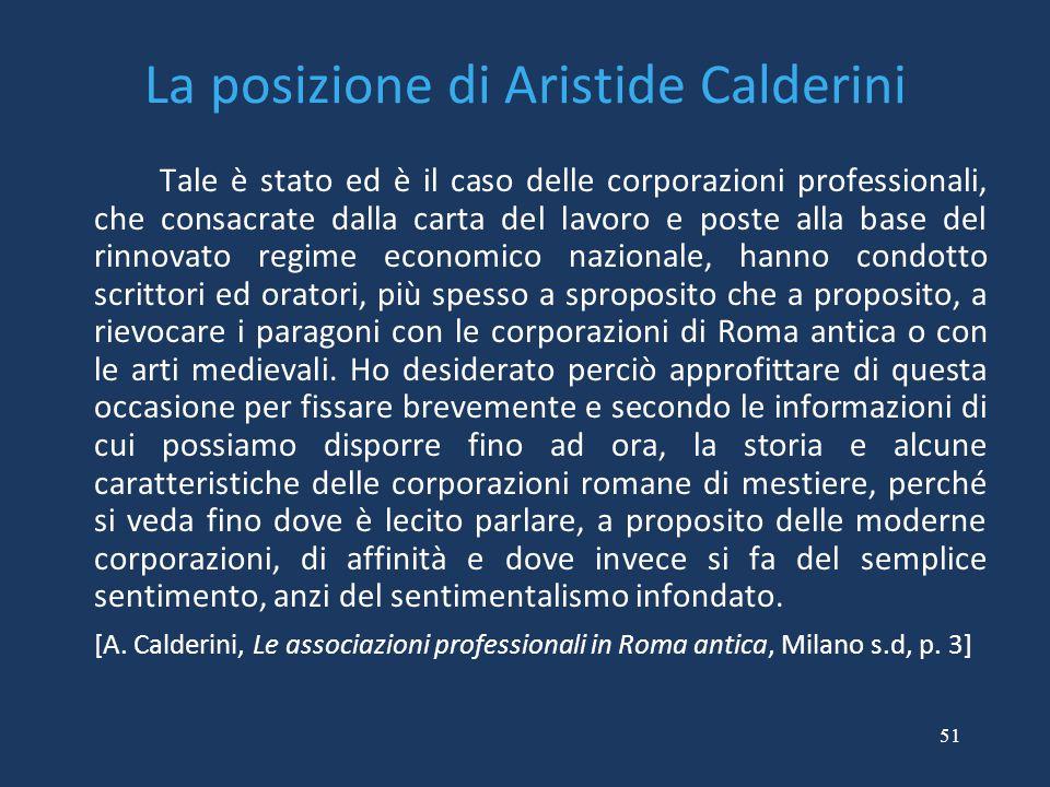 La posizione di Aristide Calderini