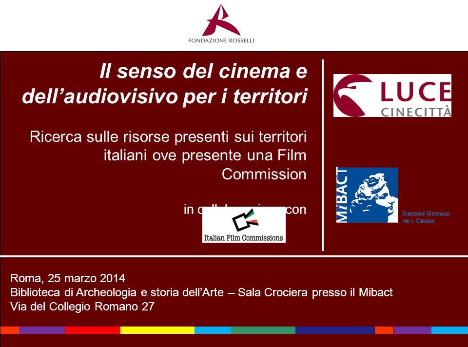 Il senso del cinema e dell'audiovisivo per i territori