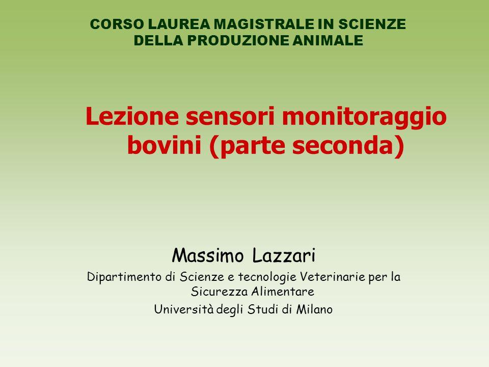 Lezione sensori monitoraggio bovini (parte seconda)
