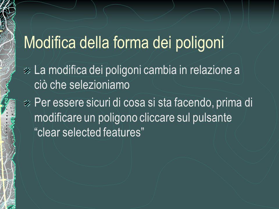 Modifica della forma dei poligoni