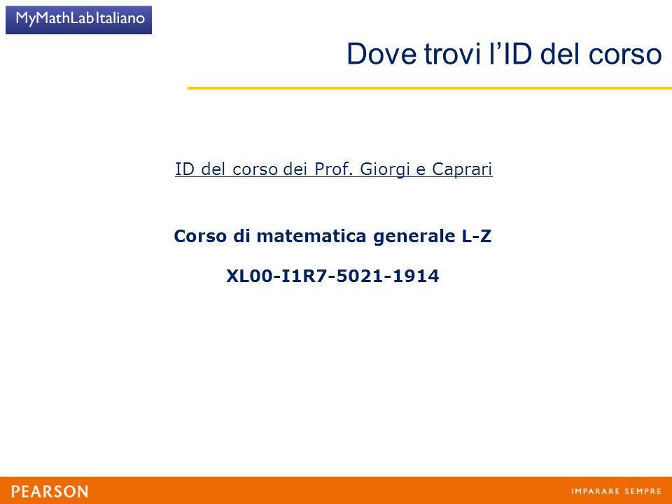 Corso di matematica generale L-Z