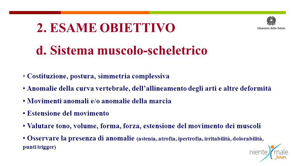d. Sistema muscolo-scheletrico