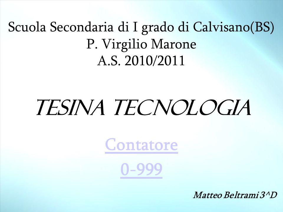Contatore 0-999 Matteo Beltrami 3^D