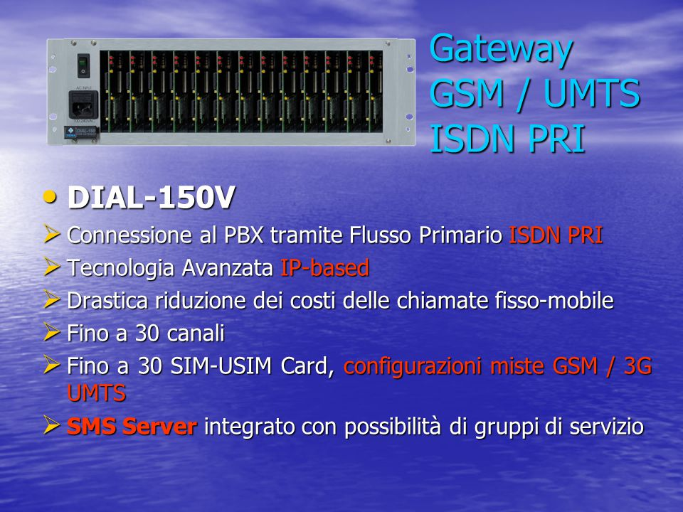 Gateway GSM / UMTS ISDN PRI