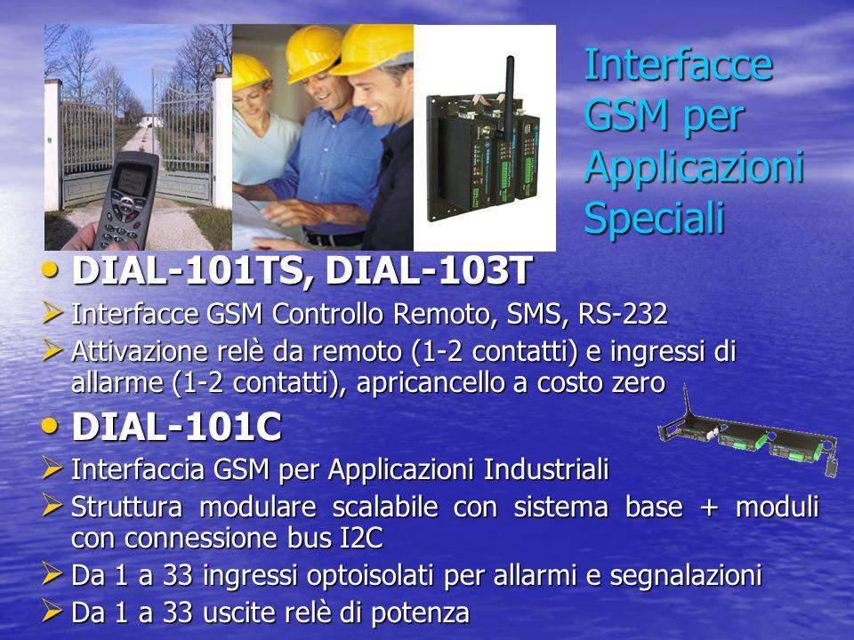 Interfacce GSM per Applicazioni Speciali