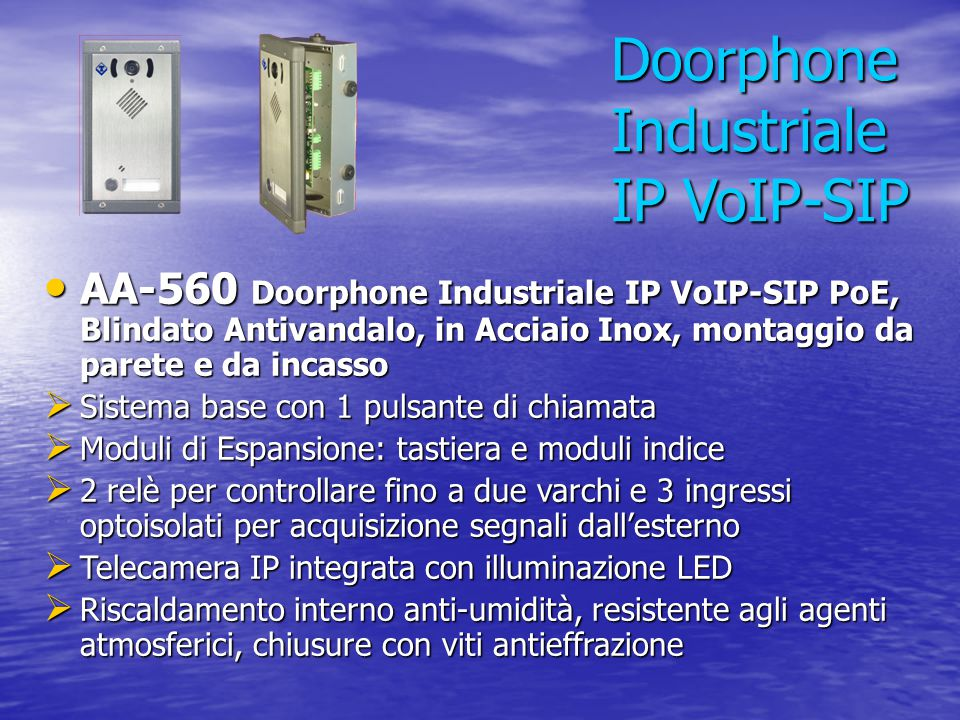 Doorphone Industriale IP VoIP-SIP