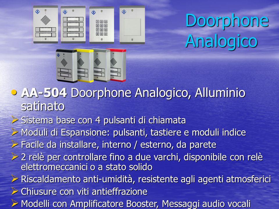 Doorphone Analogico AA-504 Doorphone Analogico, Alluminio satinato