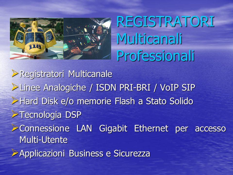REGISTRATORI Multicanali Professionali