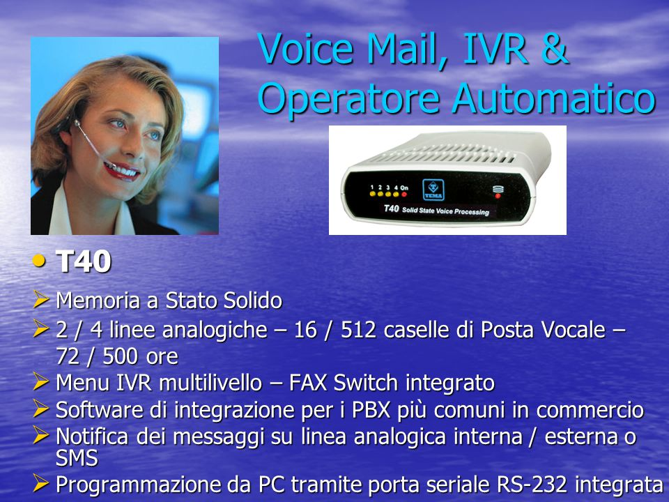 Voice Mail, IVR & Operatore Automatico