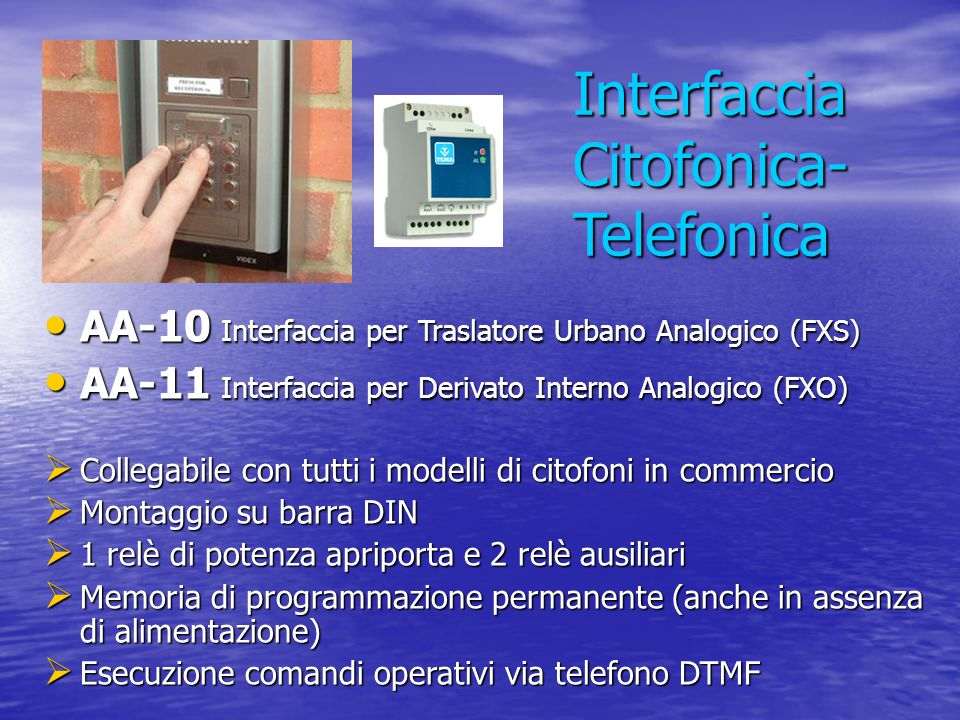 Interfaccia Citofonica-Telefonica