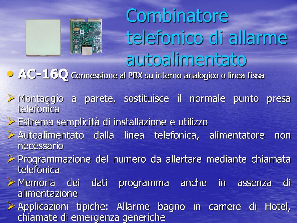 Combinatore telefonico di allarme autoalimentato