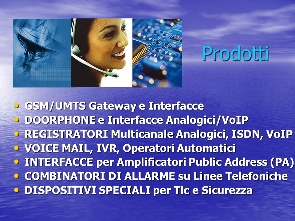 Prodotti GSM/UMTS Gateway e Interfacce