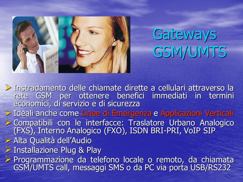 Gateways GSM/UMTS