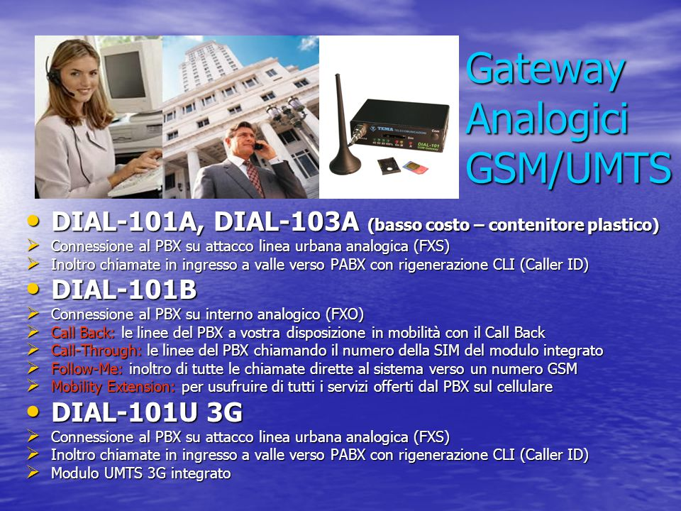 Gateway Analogici GSM/UMTS
