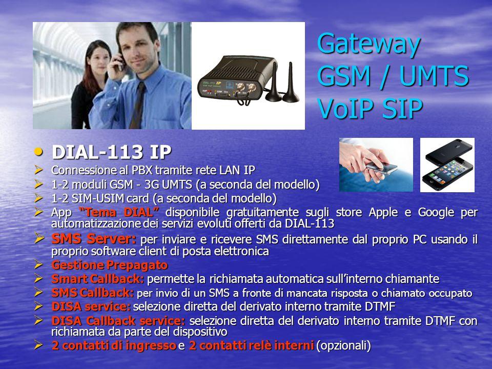 Gateway GSM / UMTS VoIP SIP