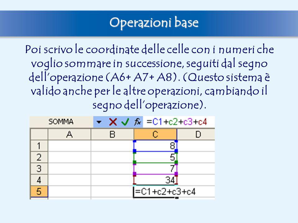 Operazioni base