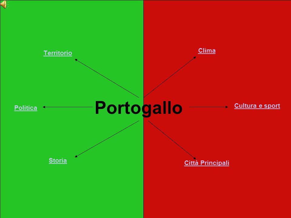 Portogallo Clima Territorio Cultura e sport Politica Storia