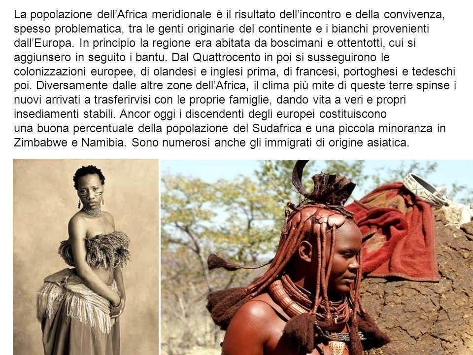 La popolazione dell'Africa meridionale è il risultato dell'incontro e della convivenza,