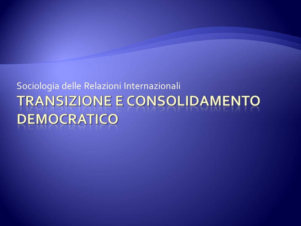 Transizione e consolidamento democratico