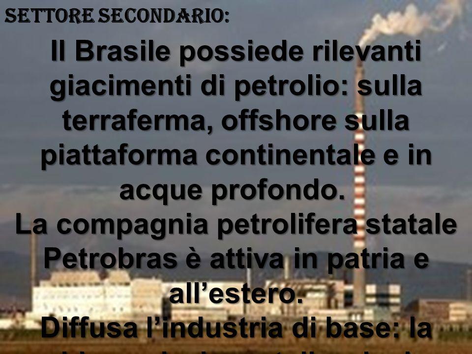 SETTORE SECONDARIO: