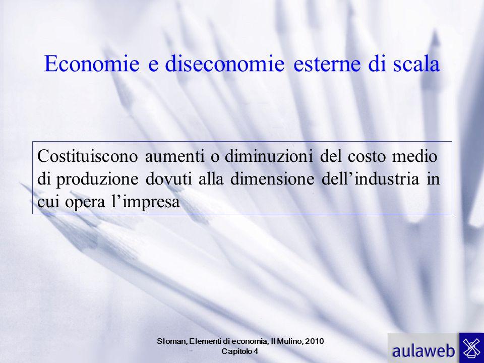 Sloman, Elementi di economia, Il Mulino, 2010 Capitolo 4