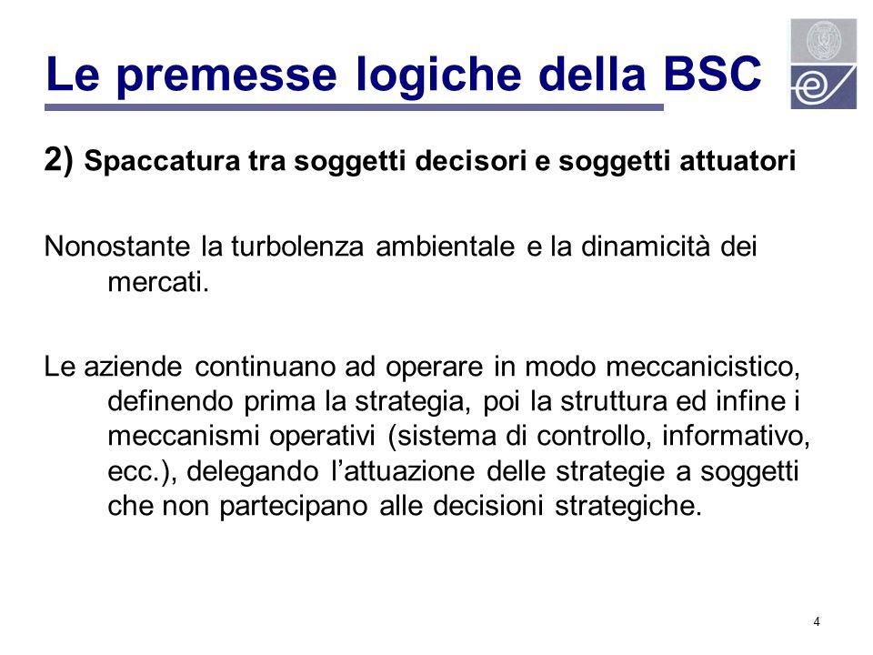 Le premesse logiche della BSC