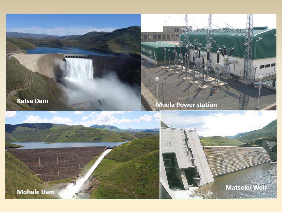 Fasi completate Fase 1a: Fase 1b: Katse Dam Muela Power station
