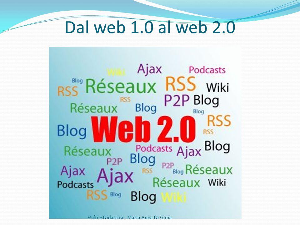 Dal web 1.0 al web 2.0 Wiki e Didattica - Maria Anna Di Gioia