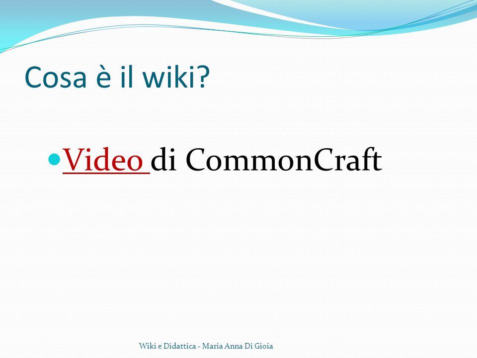 Cosa è il wiki Video di CommonCraft