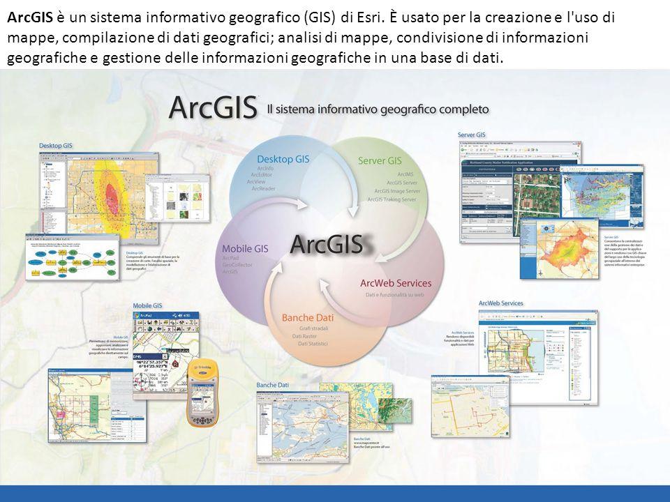 ArcGIS è un sistema informativo geografico (GIS) di Esri