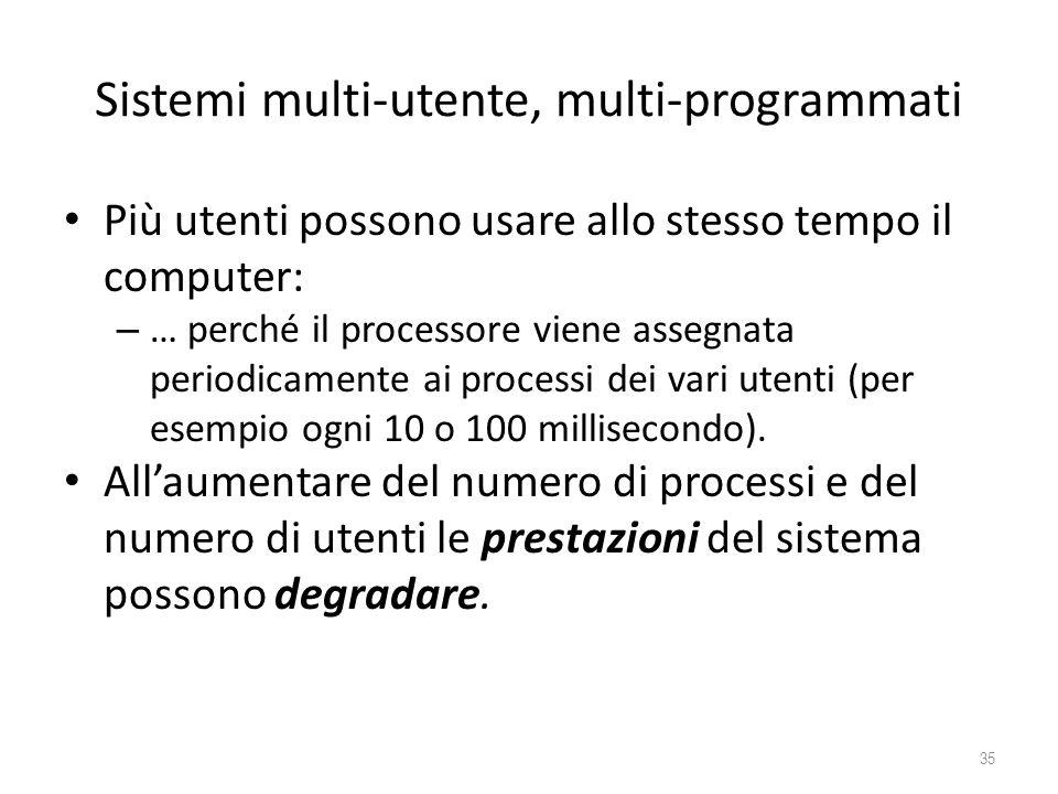 Sistemi multi-utente, multi-programmati