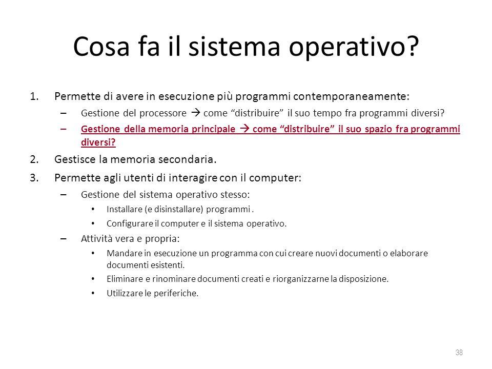 Cosa fa il sistema operativo