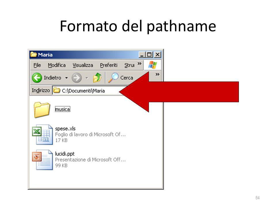 Formato del pathname