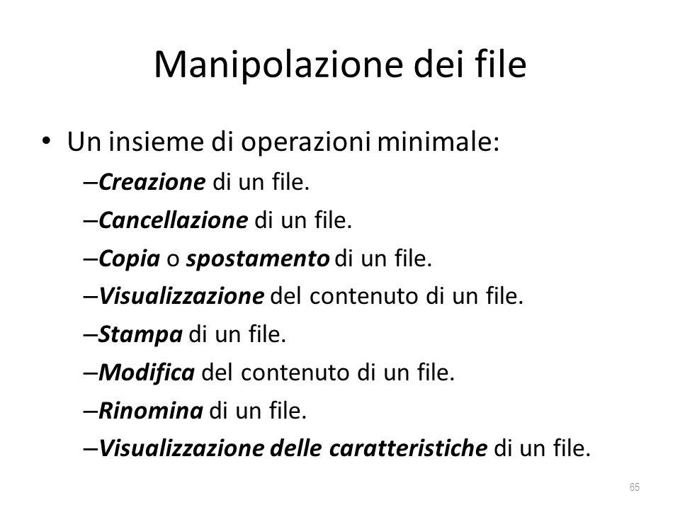 Manipolazione dei file