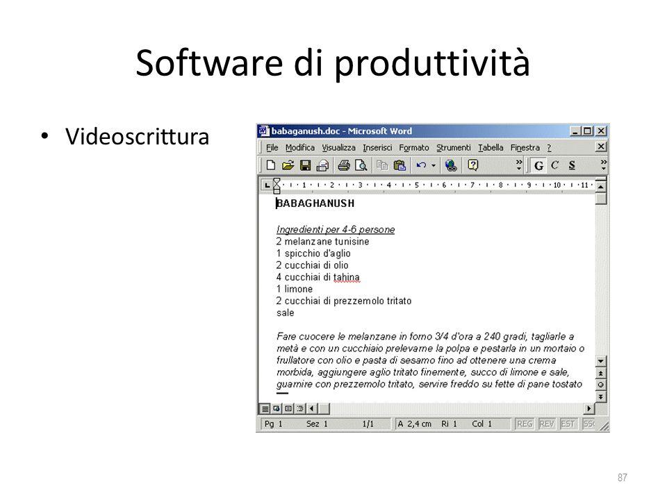 Software di produttività