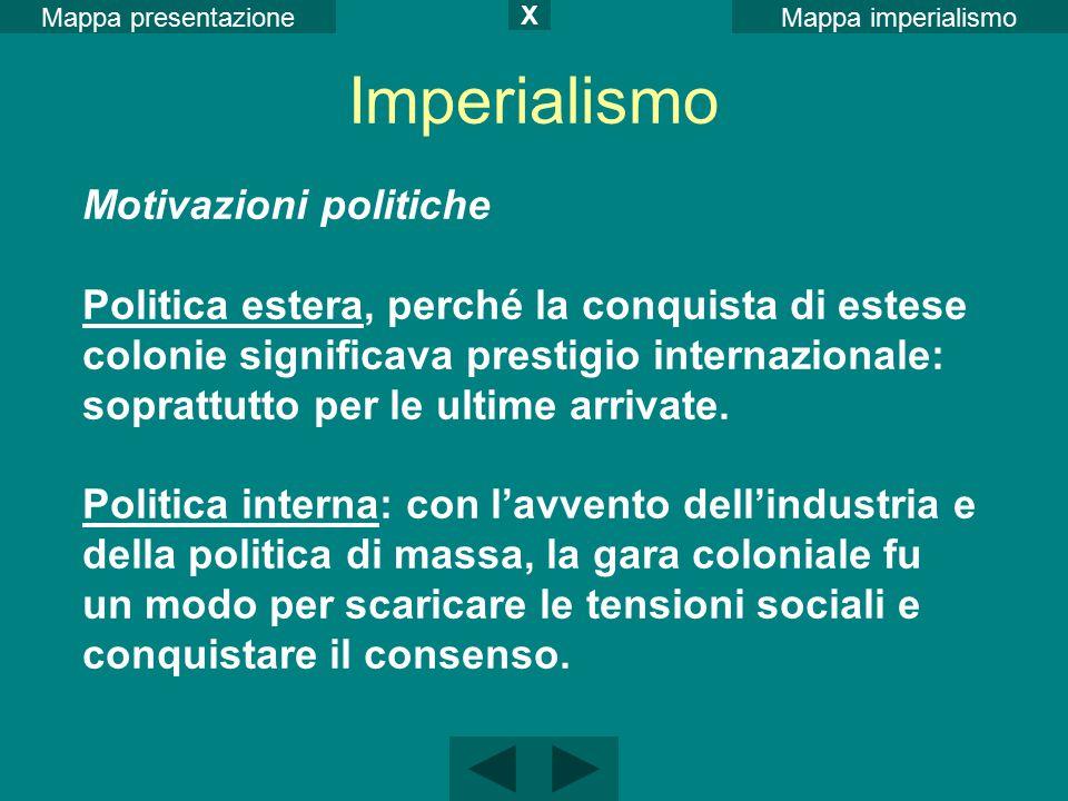 Imperialismo Motivazioni politiche