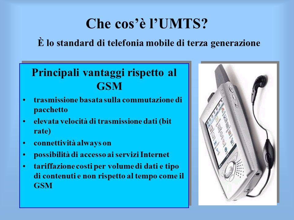 Principali vantaggi rispetto al GSM