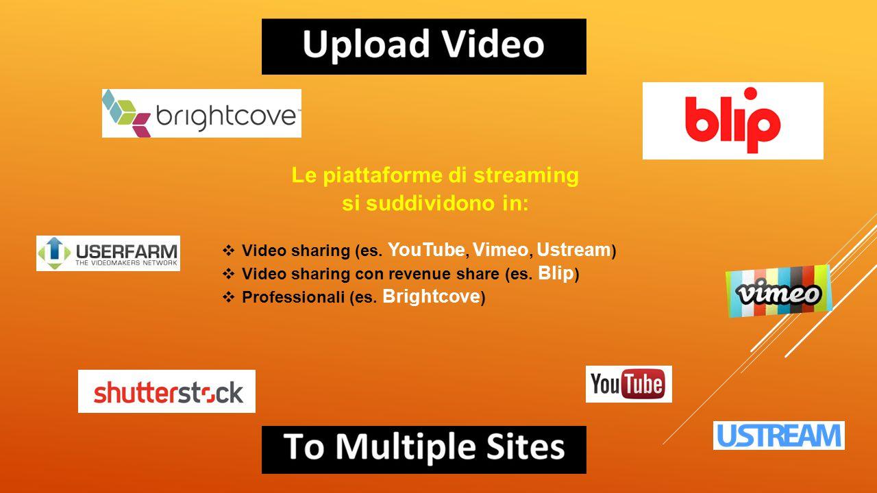 Le piattaforme di streaming