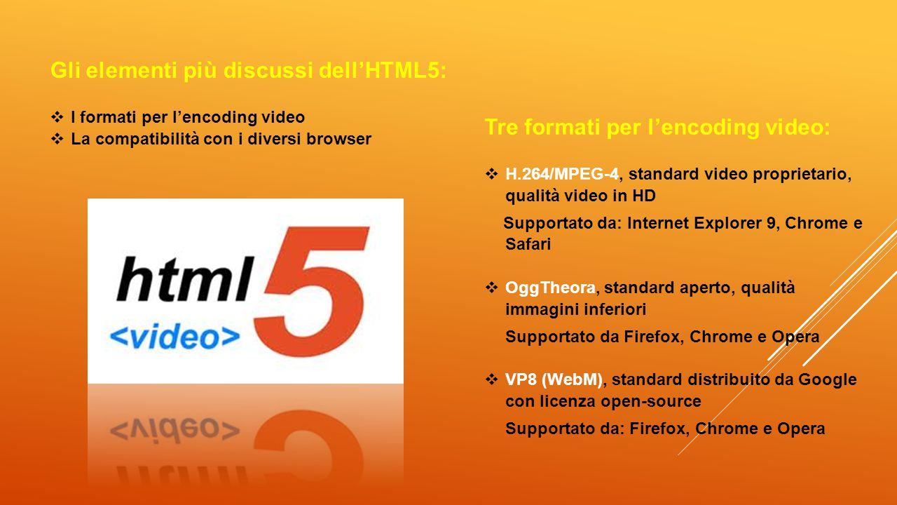 Gli elementi più discussi dell'HTML5: