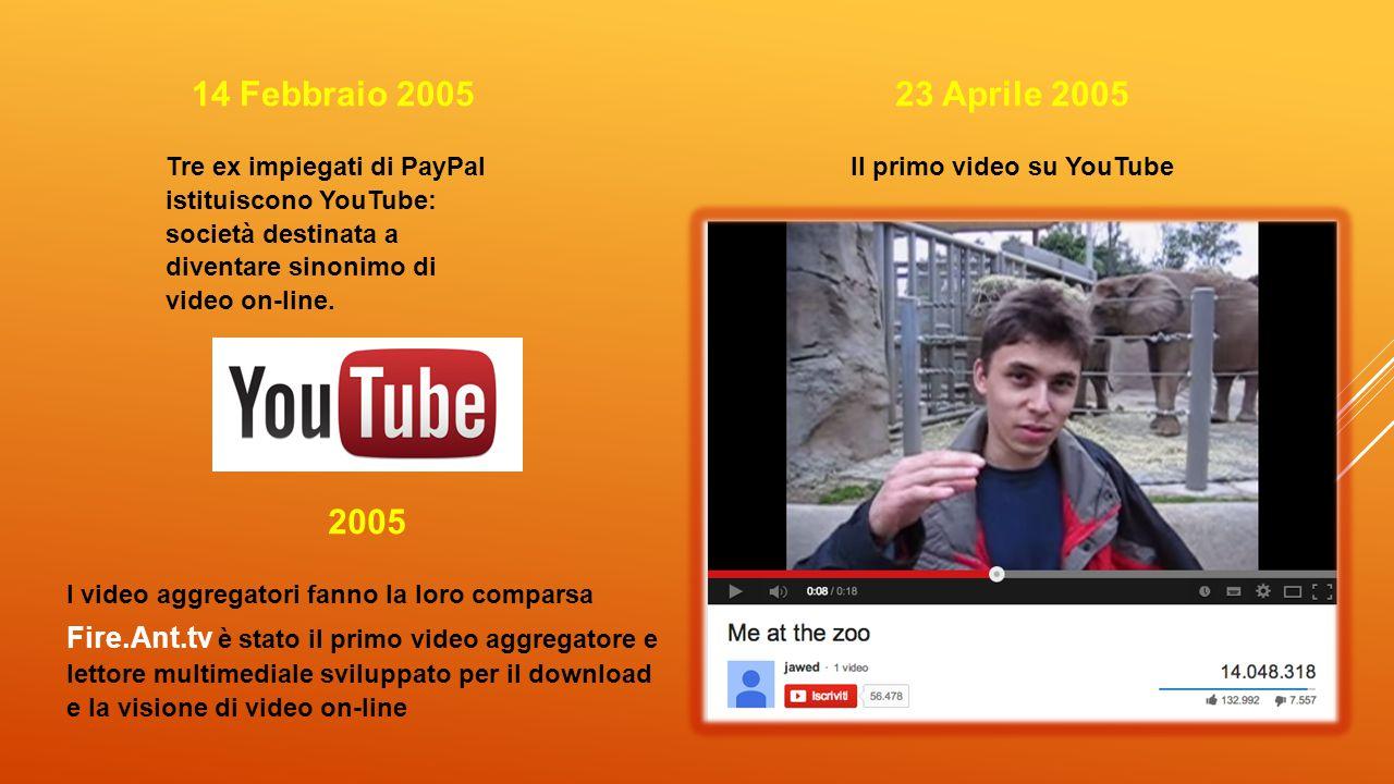 Il primo video su YouTube