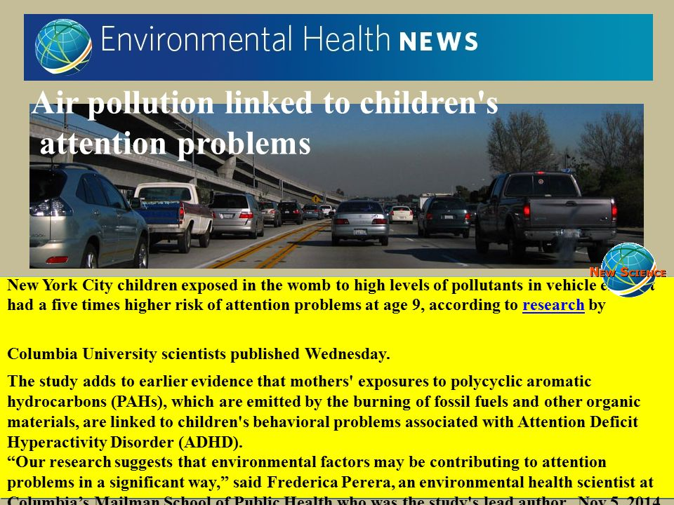 Air pollution linked to children s attention problems